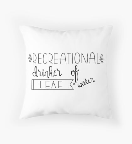 drinker of leaf water Throw Pillow