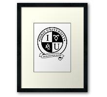 Idris University (light-based) Framed Print