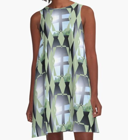 sunshine through a dark window A-Line Dress