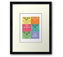 The Mortal Instruments: Descriptions Framed Print