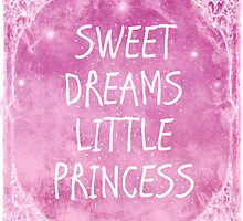 Pastel Pink White Sweet Dreams Little Princess Quote by Melissa Bittinger