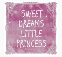 Pastel Pink White Sweet Dreams Little Princess Quote Kids Clothes