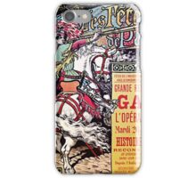 French National Opera medieval style vintage gala ad iPhone Case/Skin
