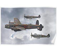 The Battle Of Britain Memorial Flight - Shoreham 2014 Poster