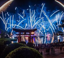 illuminations at epcot. by Diana Kelly