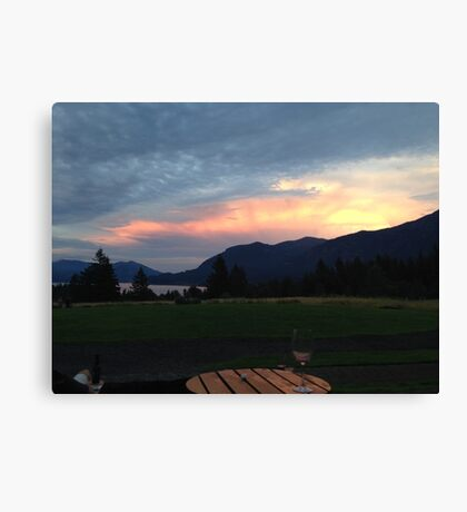 Skamania County Sunset Canvas Print