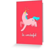 Wonderful Unicorn Greeting Card