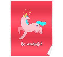 Wonderful Unicorn Poster
