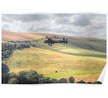 Thumper Flies Down The Coombes Valley - HDR Poster