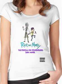 """Rick and Morty Rap Album"" Women's Fitted Scoop T-Shirt"