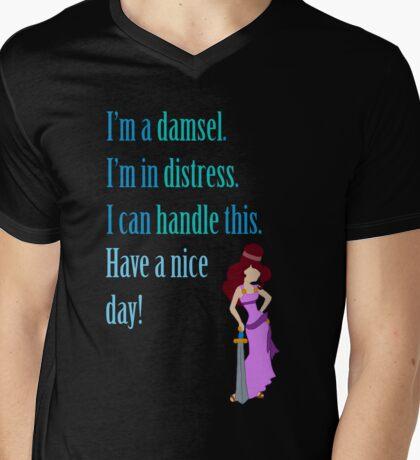 """""""Damsel in Distress""""  Mens V-Neck T-Shirt"""
