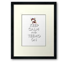 """Keep Calm and Teemo On"" Framed Print"