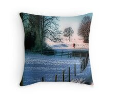 The Snow Fields Throw Pillow