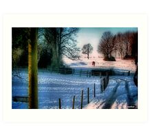 The Snow Fields Art Print