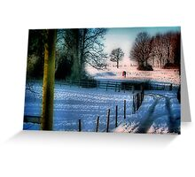 The Snow Fields Greeting Card