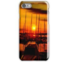 Sunset over harbour in Piran, Slovenia iPhone Case/Skin