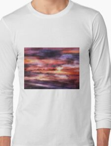 The Red Sunset Long Sleeve T-Shirt
