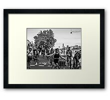 Bicycles, bicycles Framed Print