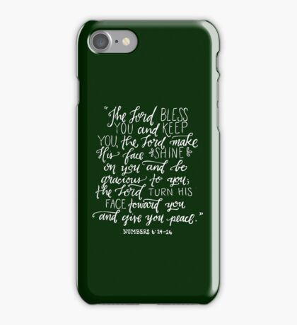 Numbers 6:24-26 iPhone Case/Skin