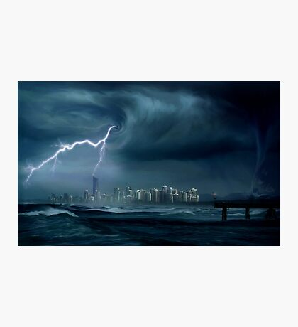 Gold Coast storm Photographic Print