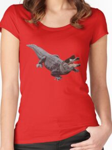 """Cool Gator"" Women's Fitted Scoop T-Shirt"