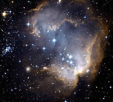Infant Stars in Nearby galaxy by Old-Time-Images