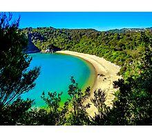 Beautiful beach at Abel Tasman National Park, New Zealand Photographic Print