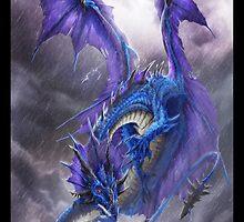Blue Storm Dragon by drakhenliche