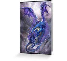 Blue Storm Dragon Greeting Card