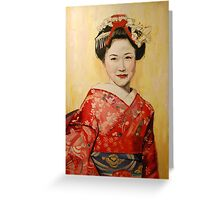 Geisha I Greeting Card