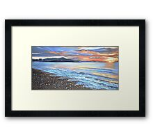 Turner Beach at Dusk Framed Print