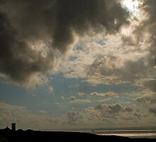 Nash Point Lighthouse in Stormy Weather by Nick Jenkins