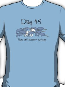 Day 45. They still suspect nothing (Narwhals + Unicorn) T-Shirt