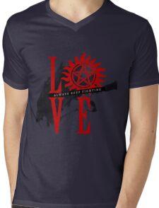 Always Keep Fighting - Supernatural LOVE Mens V-Neck T-Shirt