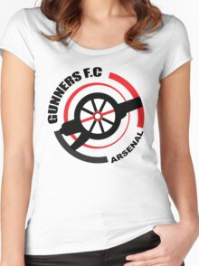 Arsenal FC - The Gunners Women's Fitted Scoop T-Shirt