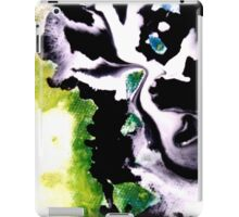 Audacity abstract painting in Green Black and White iPad Case/Skin