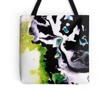 Audacity abstract painting in Green Black and White Tote Bag