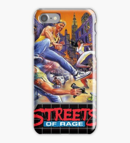 Streets of Rage Mega Drive Cover iPhone Case/Skin