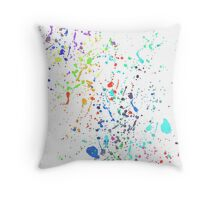 The Paint Splatter Mk II Throw Pillow