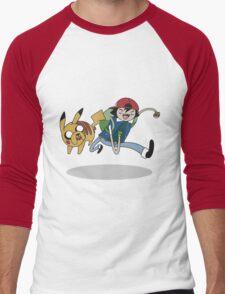 Poketime Men's Baseball ¾ T-Shirt