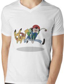 Poketime Mens V-Neck T-Shirt