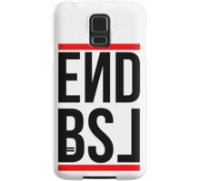 End BSL Text (Black and Red) Samsung Galaxy Case/Skin