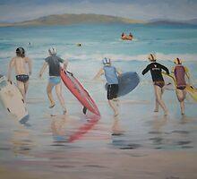 Surf Race by Jen  Biscoe