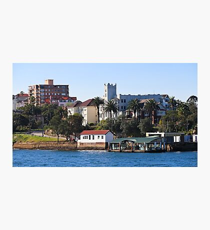 Mansions and Quays on Sydney Harbour Photographic Print