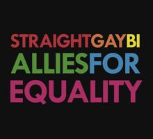 Straight, Gay, Bi - Allies For Equality by jezkemp