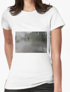 Fall Water Impression Womens Fitted T-Shirt
