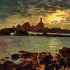Corbiere Lighthouse, Jersey,  Channel Islands by Dennis Melling