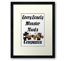 Every Lonely Monster... [Black/ Johnlock] Framed Print