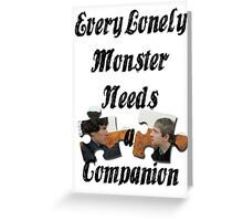 Every Lonely Monster... [Black/ Johnlock] Greeting Card