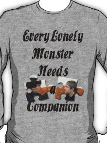 Every Lonely Monster... [Black/ Johnlock] T-Shirt
